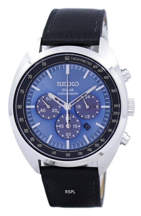 Montre Seiko solaire chronographe tachymètre SSC625 SSC625P1 SSC625P hommes