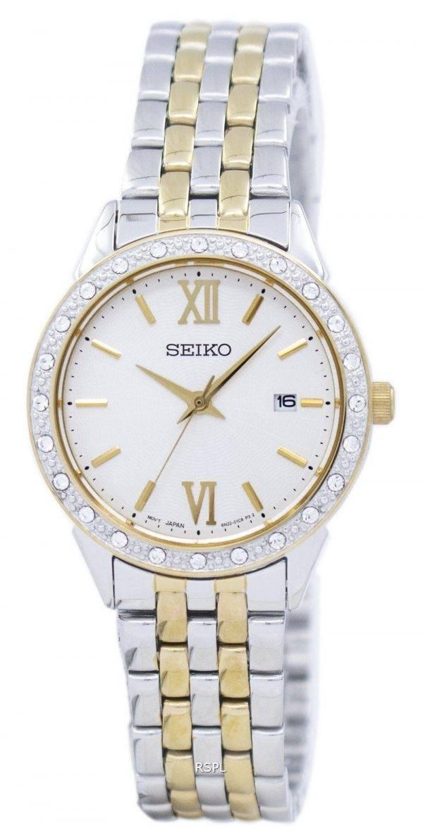 Montre Seiko Quartz diamant Accent SUR690 SUR690P1 SUR690P féminin