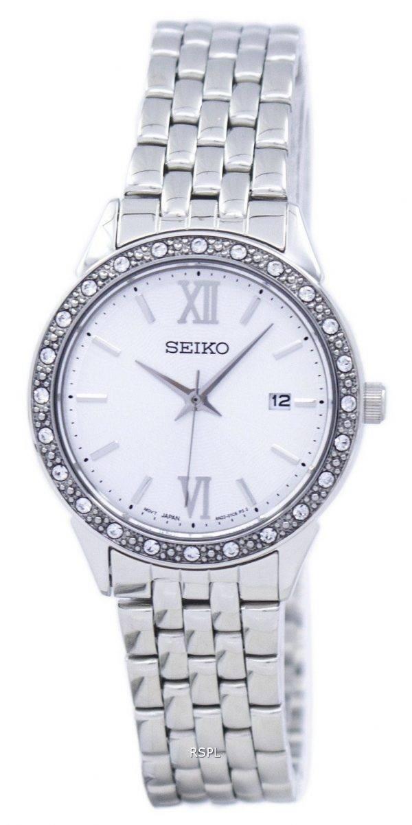 Montre Seiko Quartz diamant Accent SUR695 SUR695P1 SUR695P féminin
