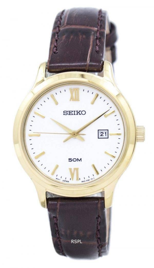 Montre Seiko classique Quartz SUR702 SUR702P1 SUR702P féminin