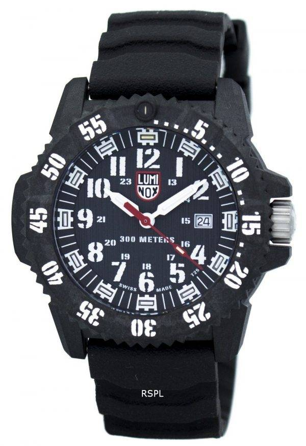 Montre Luminox Master carbone Seal 3800 série Quartz XS.3801 masculin