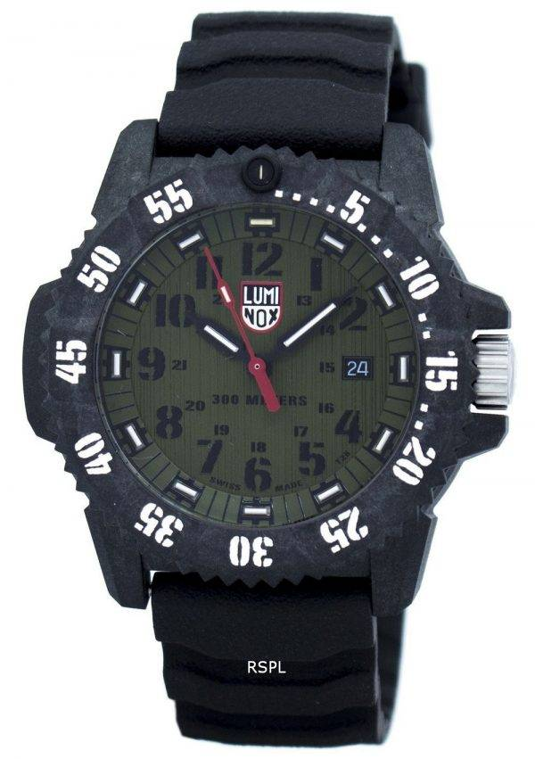 Montre Luminox Master carbone Seal 3800 série Quartz XS.3813 masculin
