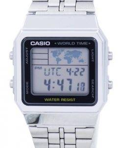 Alarme Casio World Time Digital A500WA-1DF montre homme