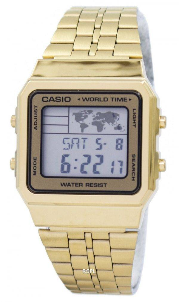 Alarme Casio World Time Digital A500WGA-9DF montre homme