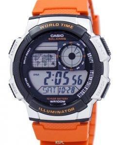 8e76dd70c Jeunesse de Casio série illuminateur monde temps alarme AE-1000W-4BV montre  homme