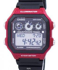 7aa8b82be Montre Casio jeunesse série illuminateur chronographe alarme AE-1300WH-4AV  hommes