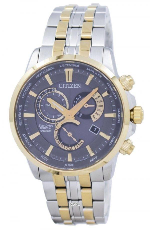 Montre Citizen Eco-Drive quantième perpétuel GMT BL8144 - 54H masculin