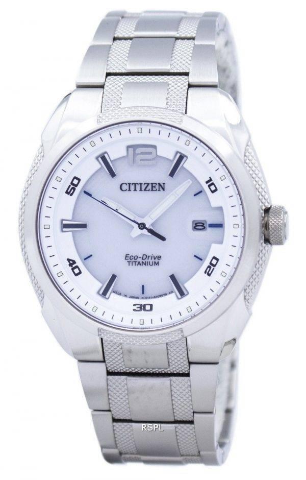 Citizen Eco-Drive titane analogiques Japon fait BM6901-55 b montre homme