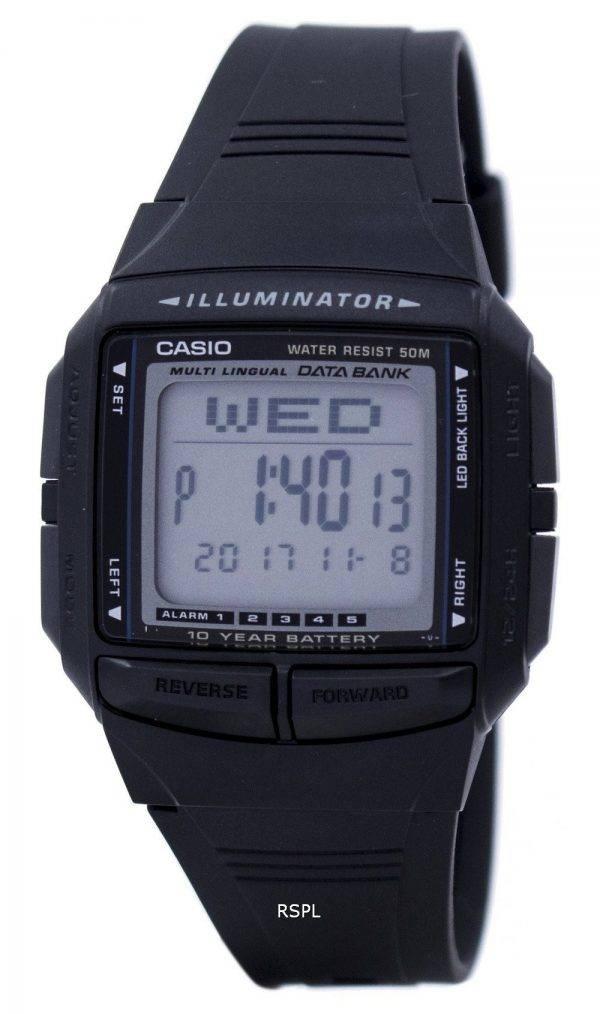 Casio Illuminator Banque de données multilingue Dual Time Digital DB-36-1AV montre homme