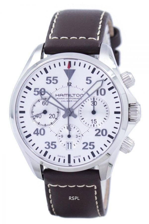 Montre Hamilton Khaki Aviation pilote chronographe automatique H64666555 masculin