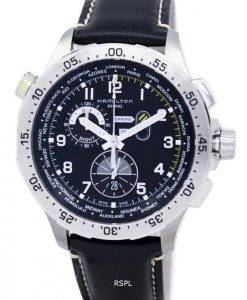 Hamilton Khaki Aviation Worldtimer Chrono Quartz H76714735 montre homme
