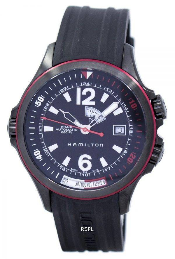 Montre Hamilton Khaki Navy GMT automatique H77585335 masculin