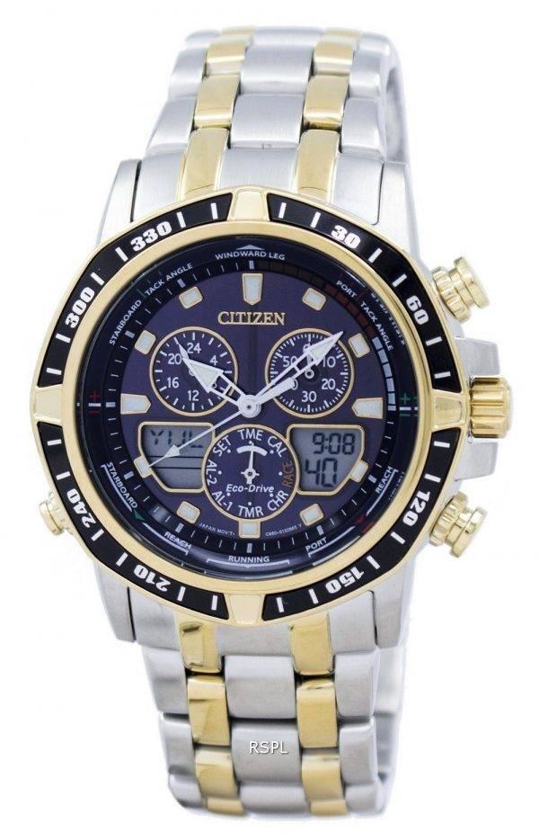 Montre Citizen Eco-Drive Sailhawk chronographe analogique numérique JR4054-56E masculine