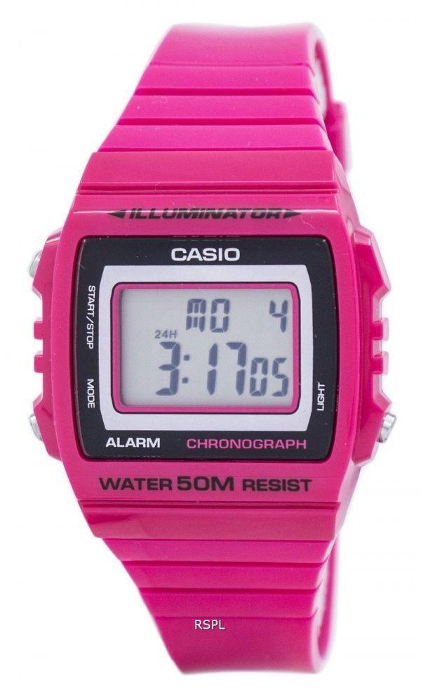 Montre Casio Illuminator chronographe alarme numérique W-215H-4AV hommes