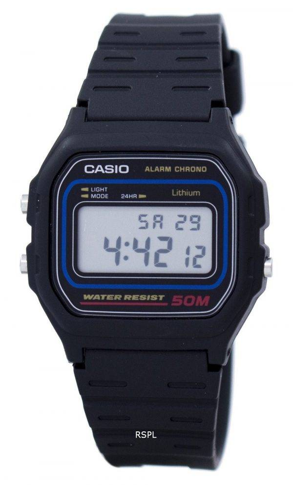 Montre Chrono Digital alarme Casio W-59-1VQ masculin