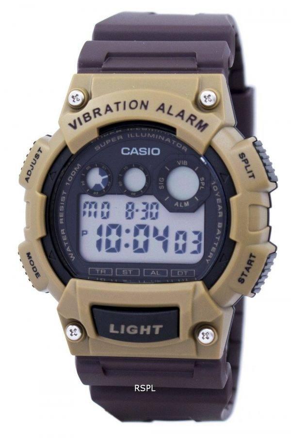 Super Casio Illuminator Vibration alarme numérique W-735H-5AV montre homme