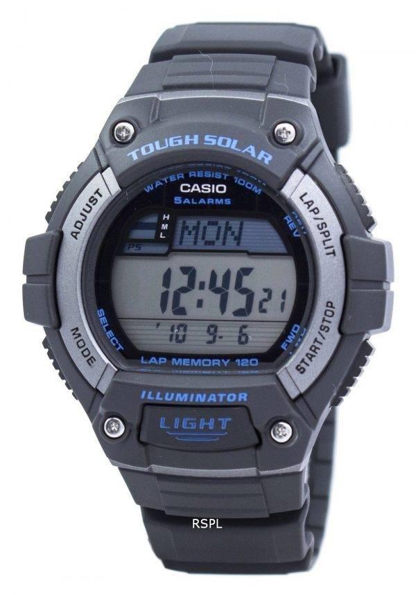 Casio Illuminator difficile Tour solaire mémoire alarme numérique W-S220-8AV montre homme