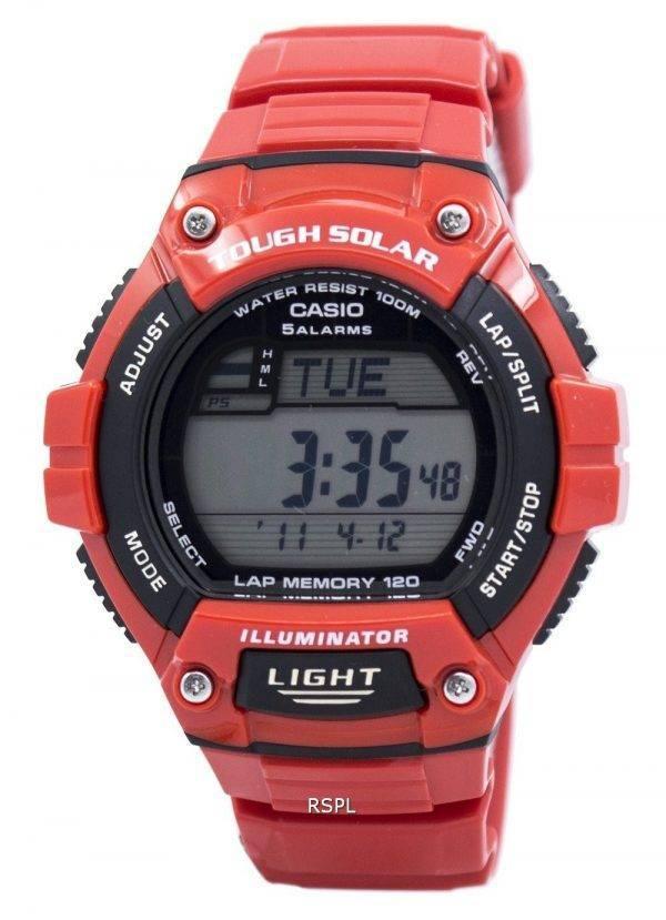 Casio Illuminator difficile Tour solaire mémoire alarme numérique W-S220C-4AV montre homme