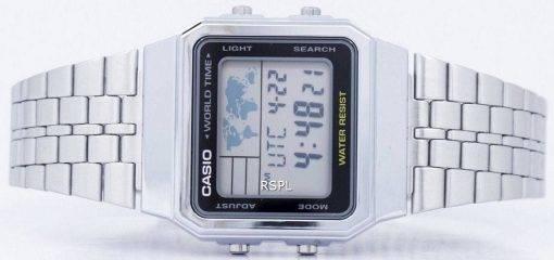 Alarme Casio World Time Digital A500WA-1DF montre homme