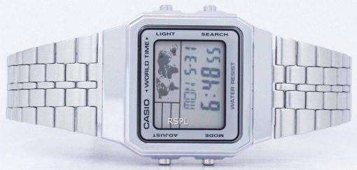 Alarme Casio World Time Digital A500WA-7DF montre homme