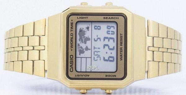 Alarme Casio World Time Digital A500WGA-9DF montre homme