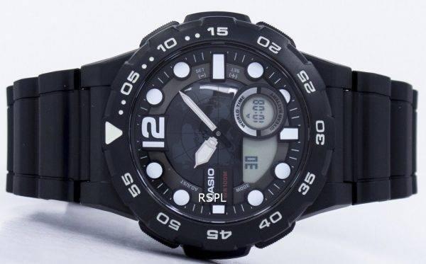 Montre Casio World Time alarme analogique numérique AEQ-100W-1AV masculine