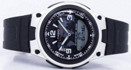 Casio Databank monde temps fiche analogique numérique AW-80-1A2V montre homme