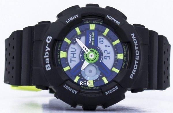 Casio Baby-G résistant aux chocs monde temps analogique numérique BA-110PP-1 a Women Watch