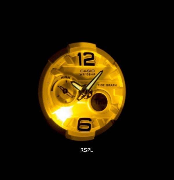 Casio Baby-G résistant aux chocs marée graphique analogique numérique BGA-180BE-2 b Women Watch