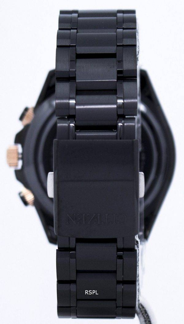 Citizen Eco-Drive Chronograph mondiale temps Japon faite BY0135-57F montre homme