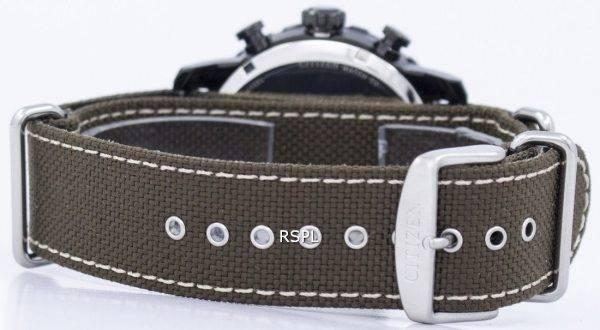 Montre chronographe militaire Citizen Eco-Drive CA4095 - 04H masculin