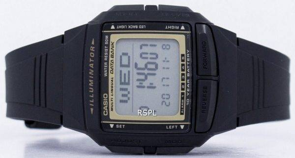 Casio Illuminator Banque de données multilingue Digital DB-36-9AV montre homme