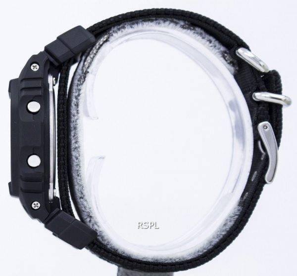 Montre alarme anti-choc numérique Casio G-Shock DW-5600BBN-1 masculine