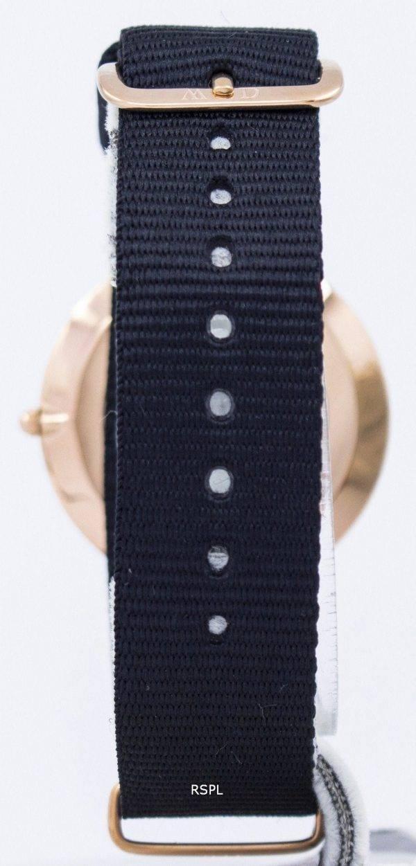 Daniel Wellington Cornwall noir classique Quartz DW00100150 montre unisexe