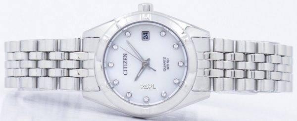 Montre Citizen analogique Quartz diamant Accent EU6050 - 59d féminin