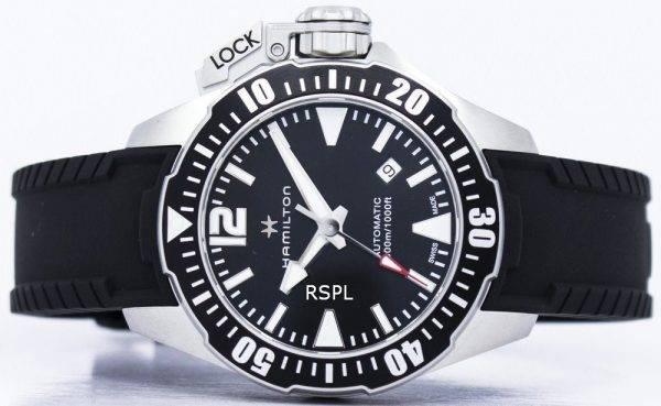 Montre Hamilton Khaki Frogman marine automatique H77605335 masculin