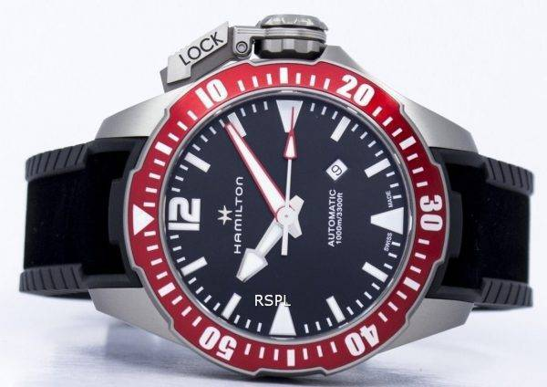 Montre Hamilton Khaki Frogman marine automatique H77805335 masculin