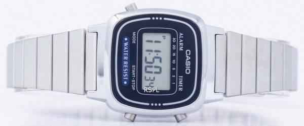 Montre Casio alarme numérique LA-670WA-2D féminin