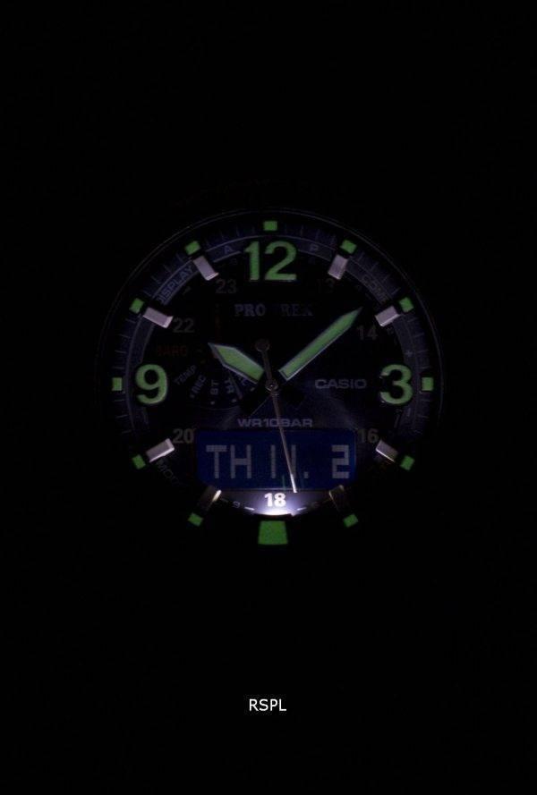 Montre Casio Protrek Tough Solar Neobrite alarme PRG-600YL-5 hommes