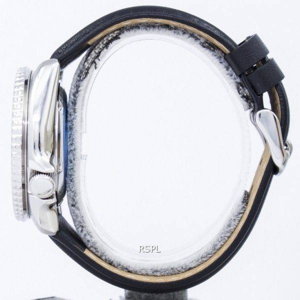Montre Ratio en cuir noir SKX011J1-LS10 200M masculin automatique Seiko Diver