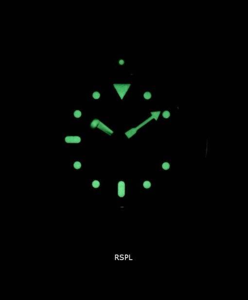 Watch Ratio en cuir brun SKX011J1-LS7 200M hommes Seiko automatique montre de plongée