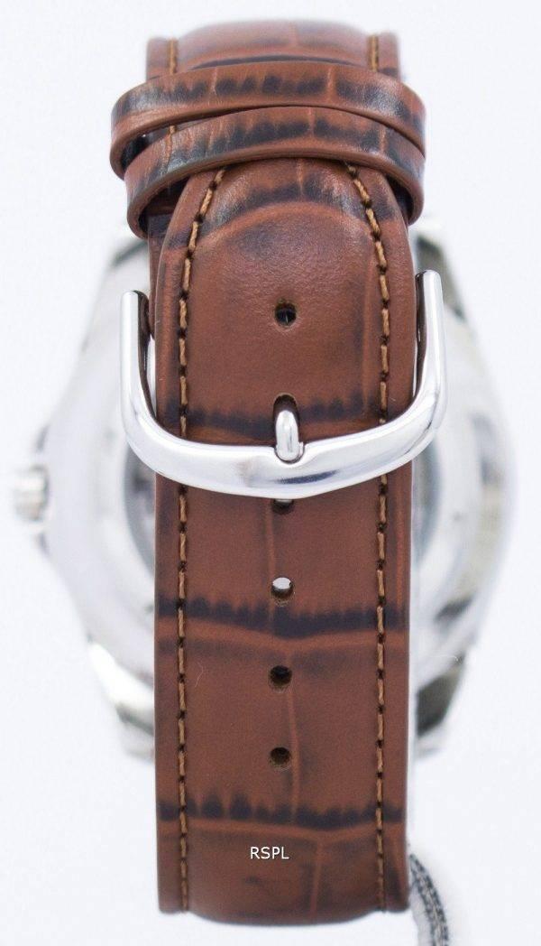 Seiko 5 Sports automatique 23 rubis Ratio cuir marron SNZF17J1-LS7 hommes