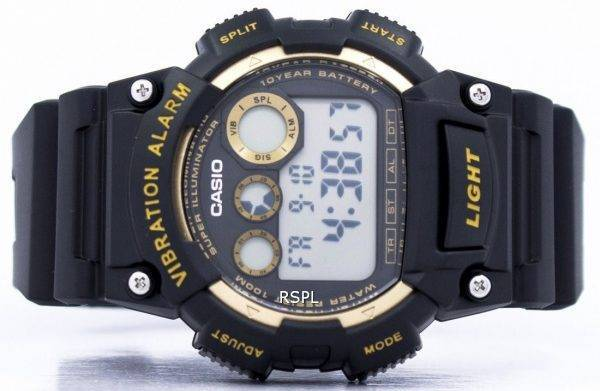 Super Casio Illuminator Vibration alarme numérique W-735H-1A2V montre homme
