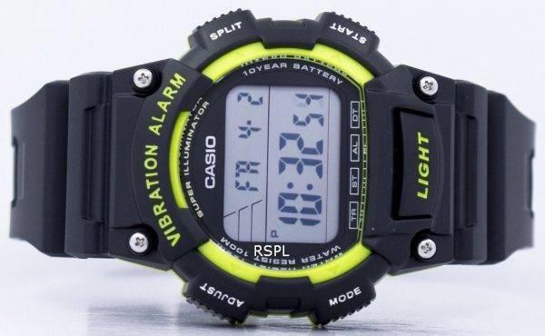 Casio Super illuminateur Vibration alarme Dual Time Digital W-736H-3AV montre homme