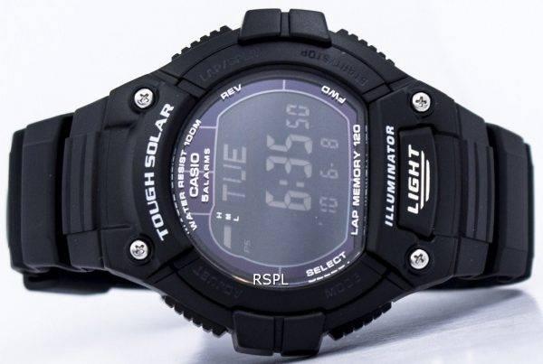 Casio Illuminator difficile Tour solaire mémoire alarme numérique W-S220-1BV montre homme