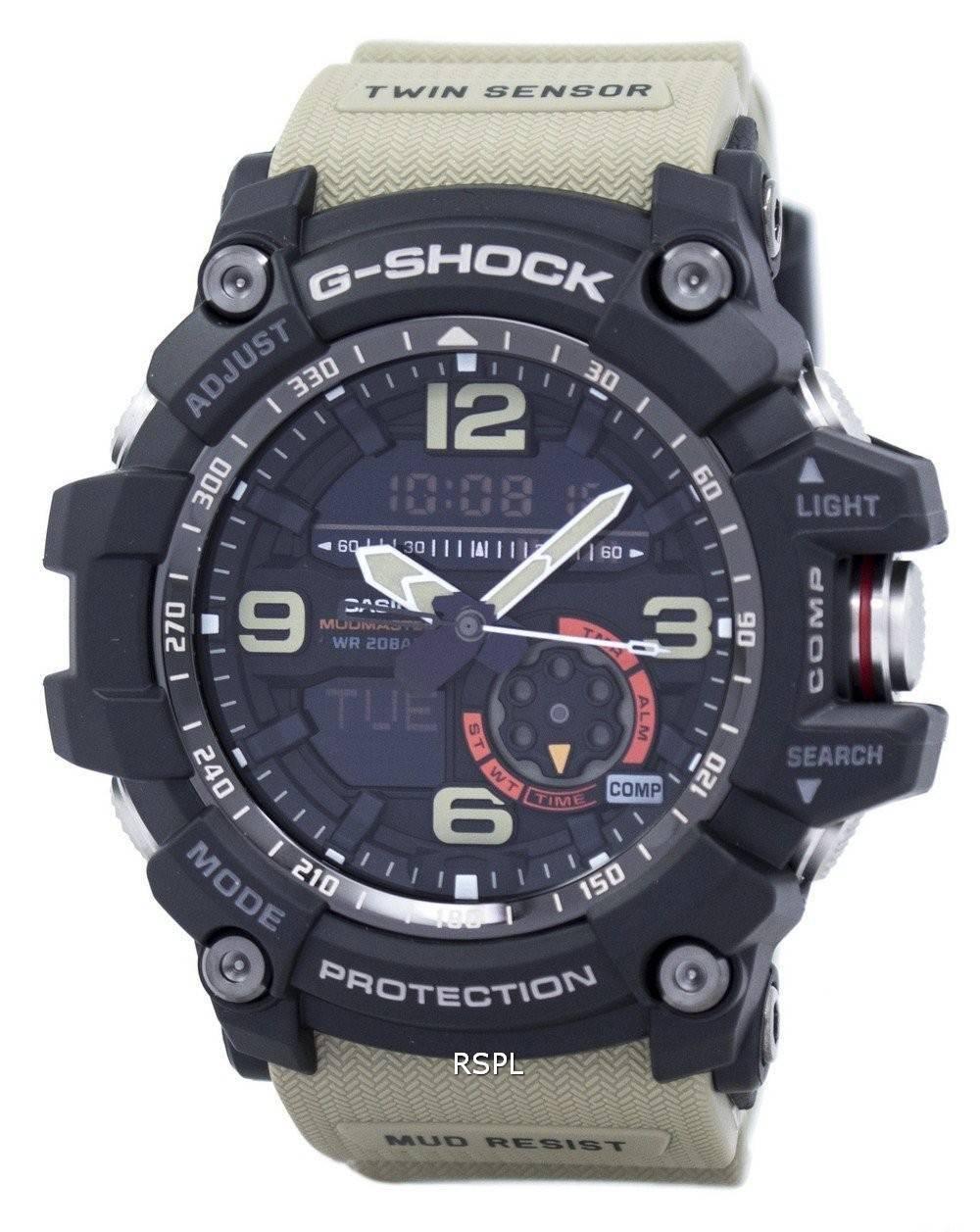 prix d'usine 1ae1c 05dc9 Montre Casio G-Shock MudMaster analogique numérique jumelles capteur  GG-1000-1A5 Hommes