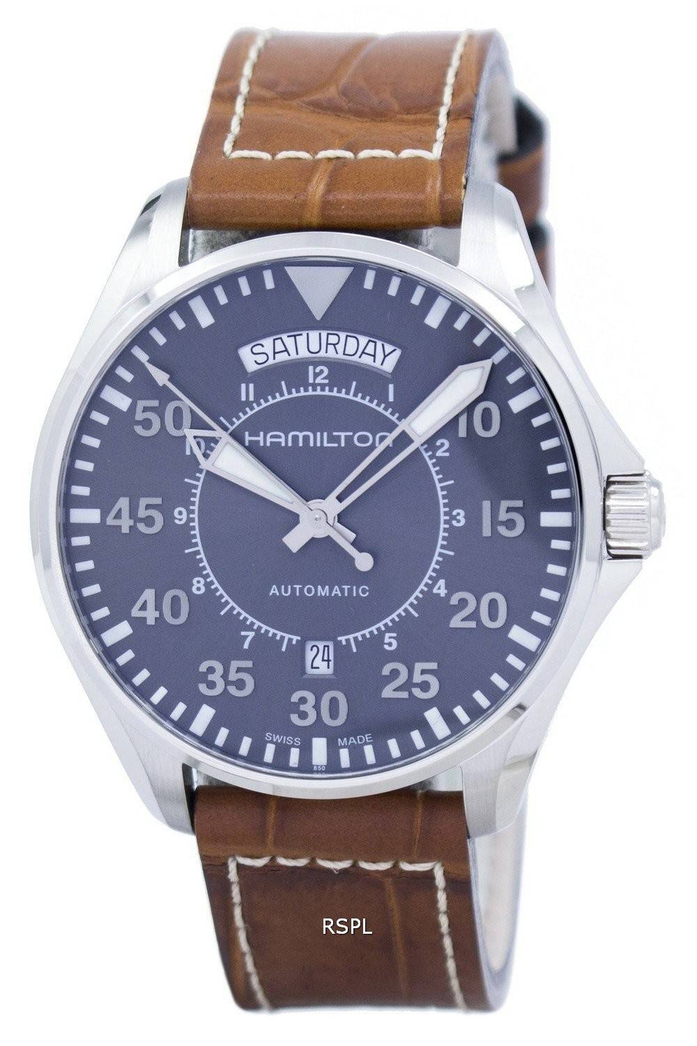 Montre Hamilton Khaki Aviation pilote automatique H64615585 masculin