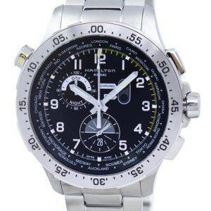 Hamilton Khaki Aviation Worldtimer Chronographe Quartz H76714135 montre homme