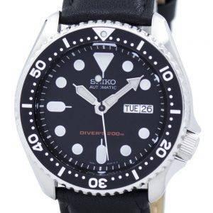 Montre 200M Ratio cuir noir SKX007K1-LS10 masculine automatique Seiko Diver