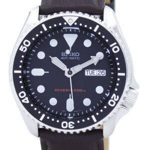 Montre 200M Ratio en cuir marron foncé SKX007K1-LS11 masculine automatique Seiko Diver